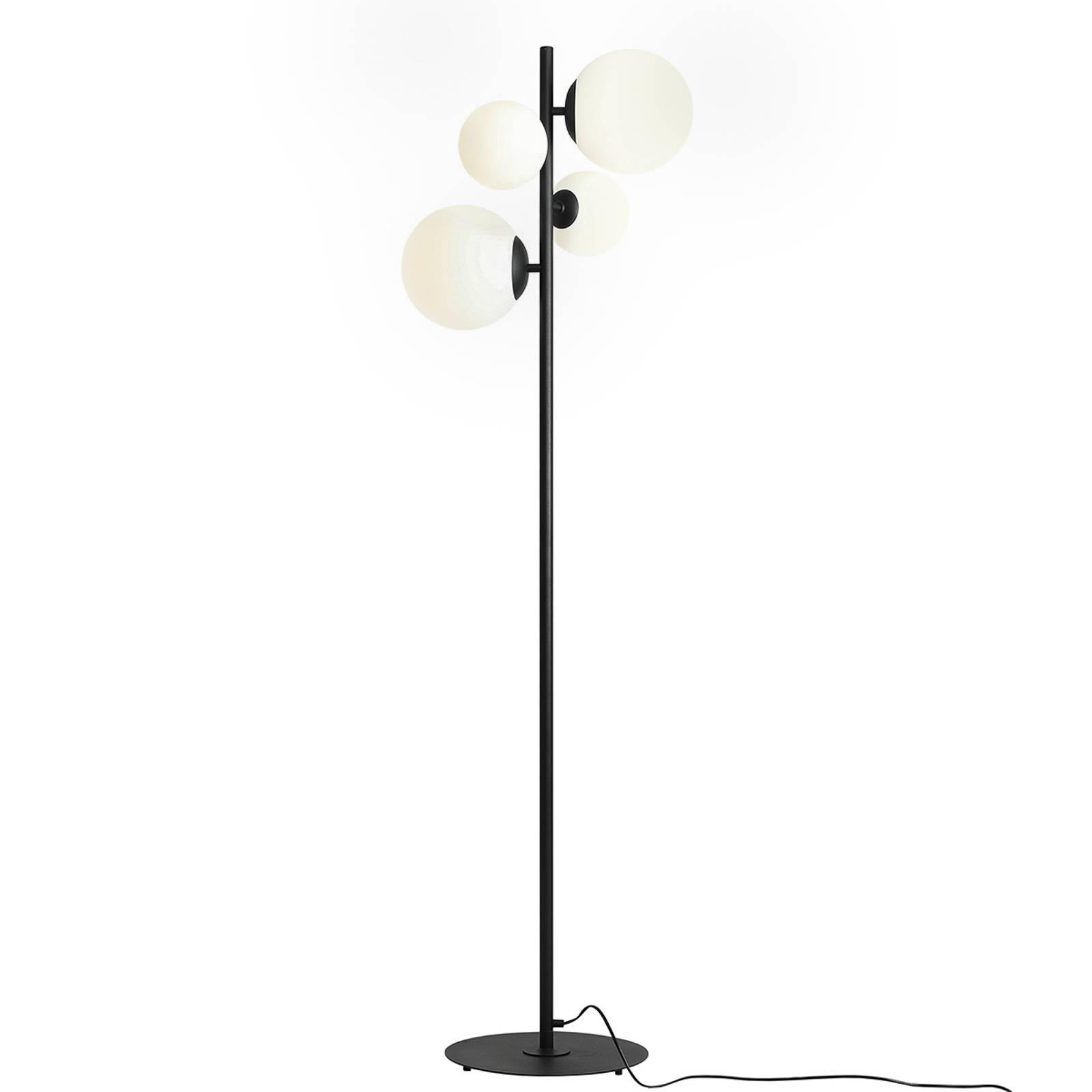 Lattiavalaisin Bloom, 4-lamppuinen, musta