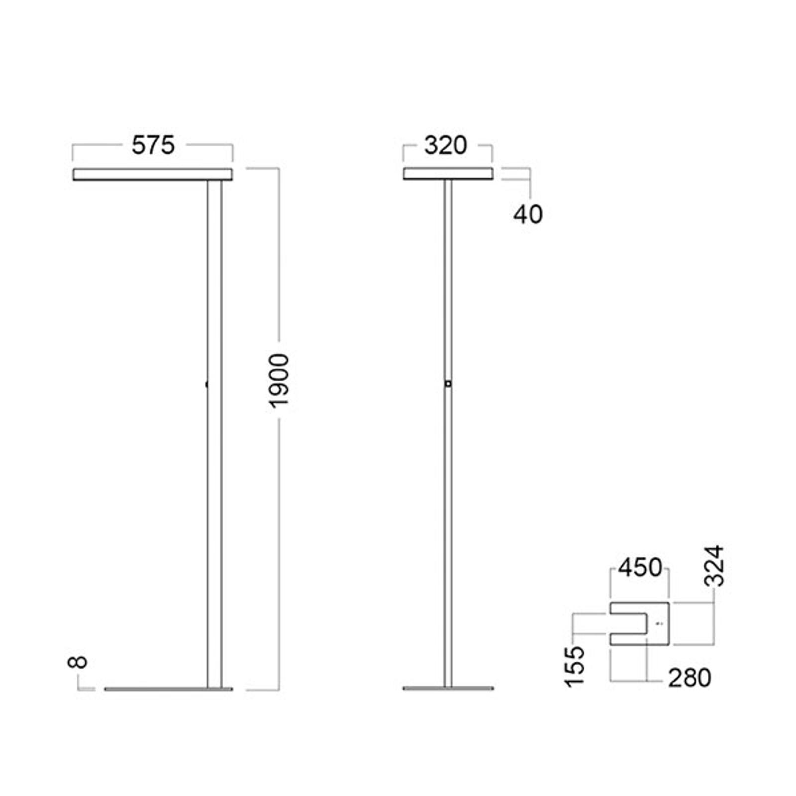 LED-lattiavalo Free-F 4 000 K tunnistin harmaa