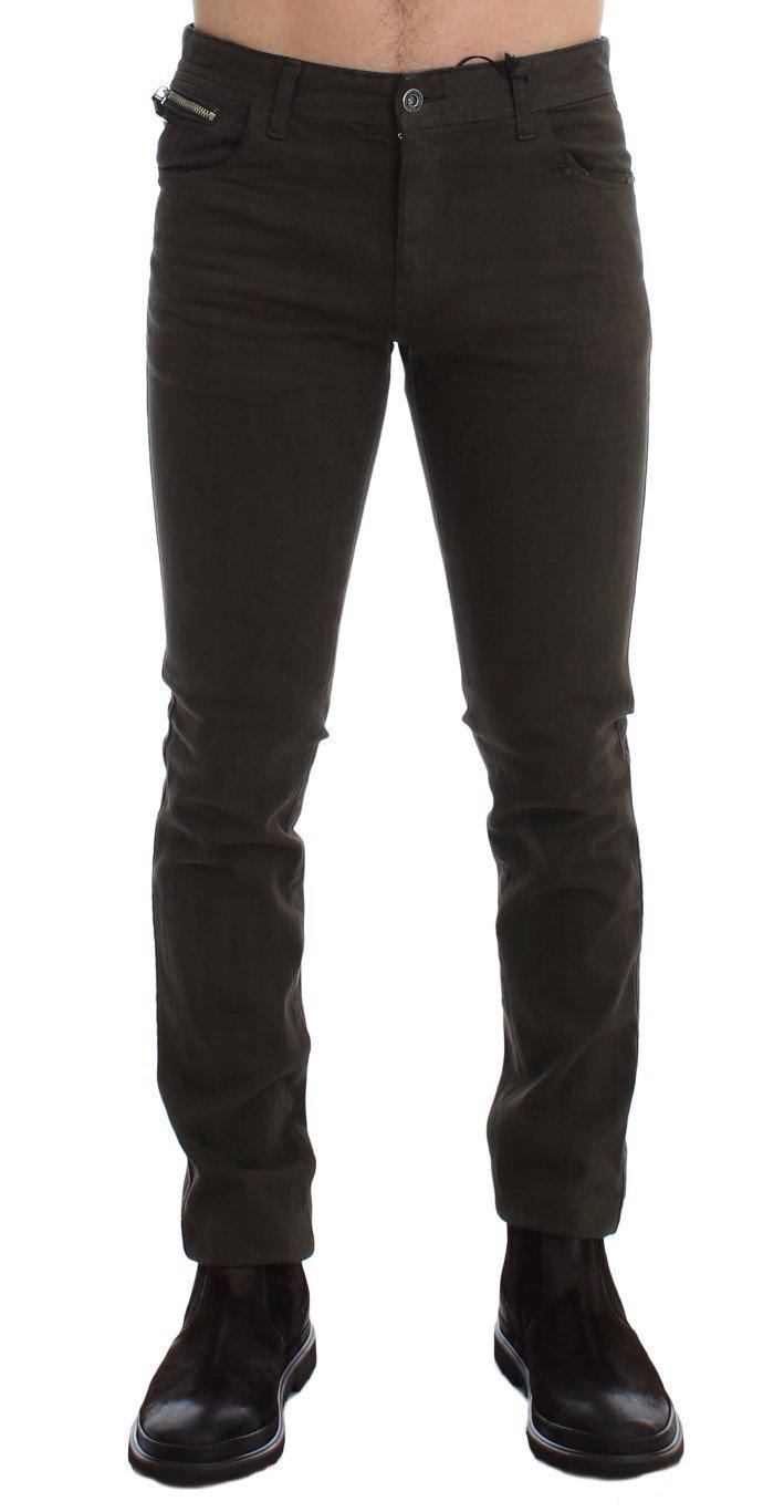 Costume National Men's Slim Fit Cotton Stretch Denim Jeans Green SIG17939 - W34