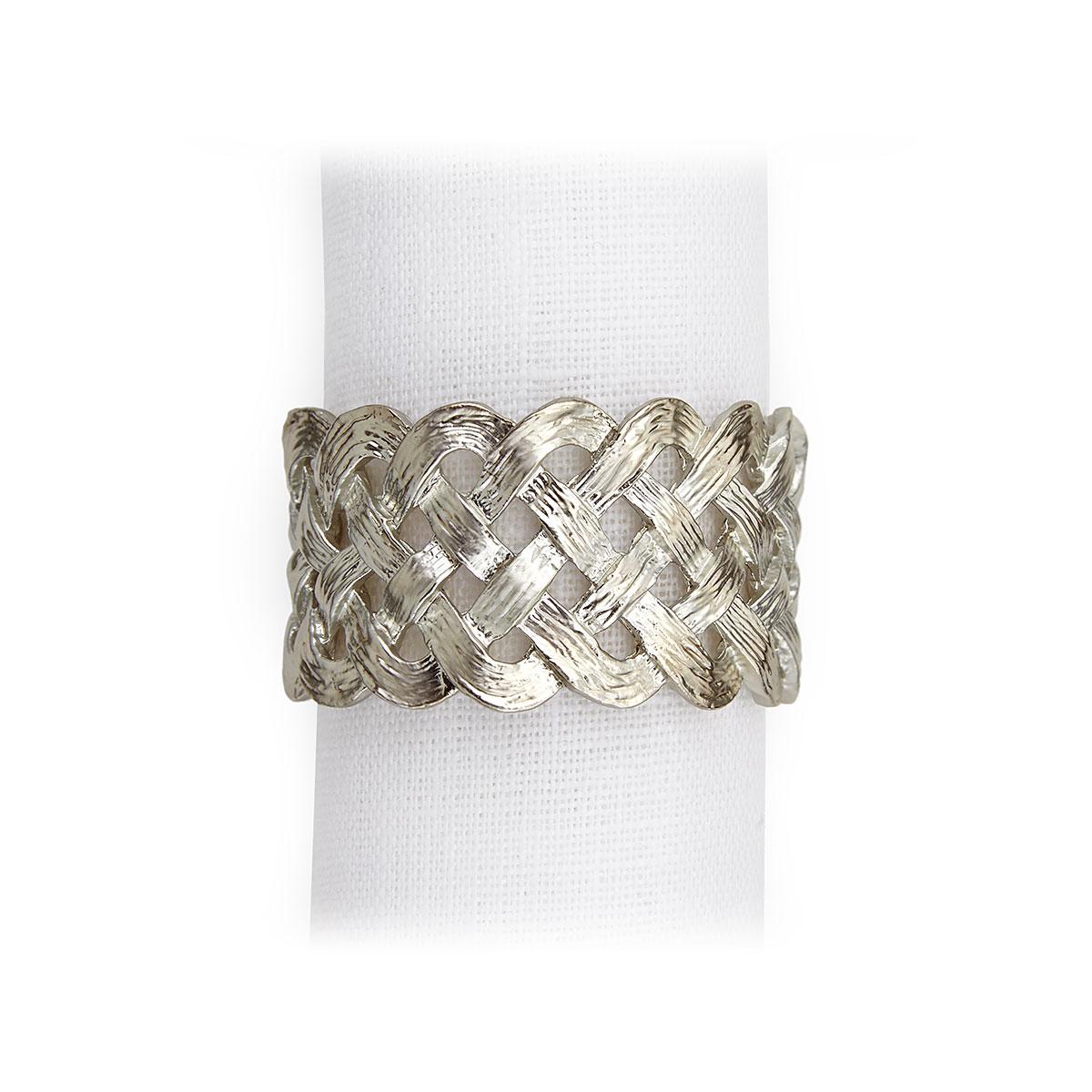 L'Objet I Braid Napkin Jewels Platinum