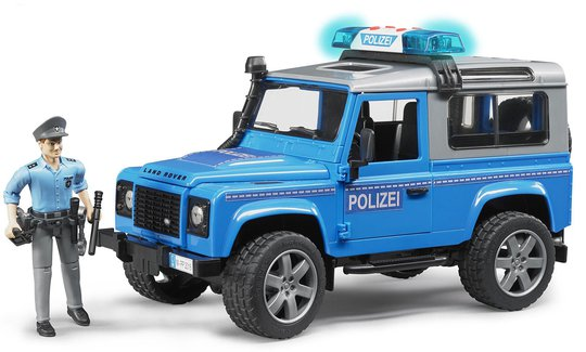Bruder Land Rover Defender Politibil med Politimann og Tilbehør 02597