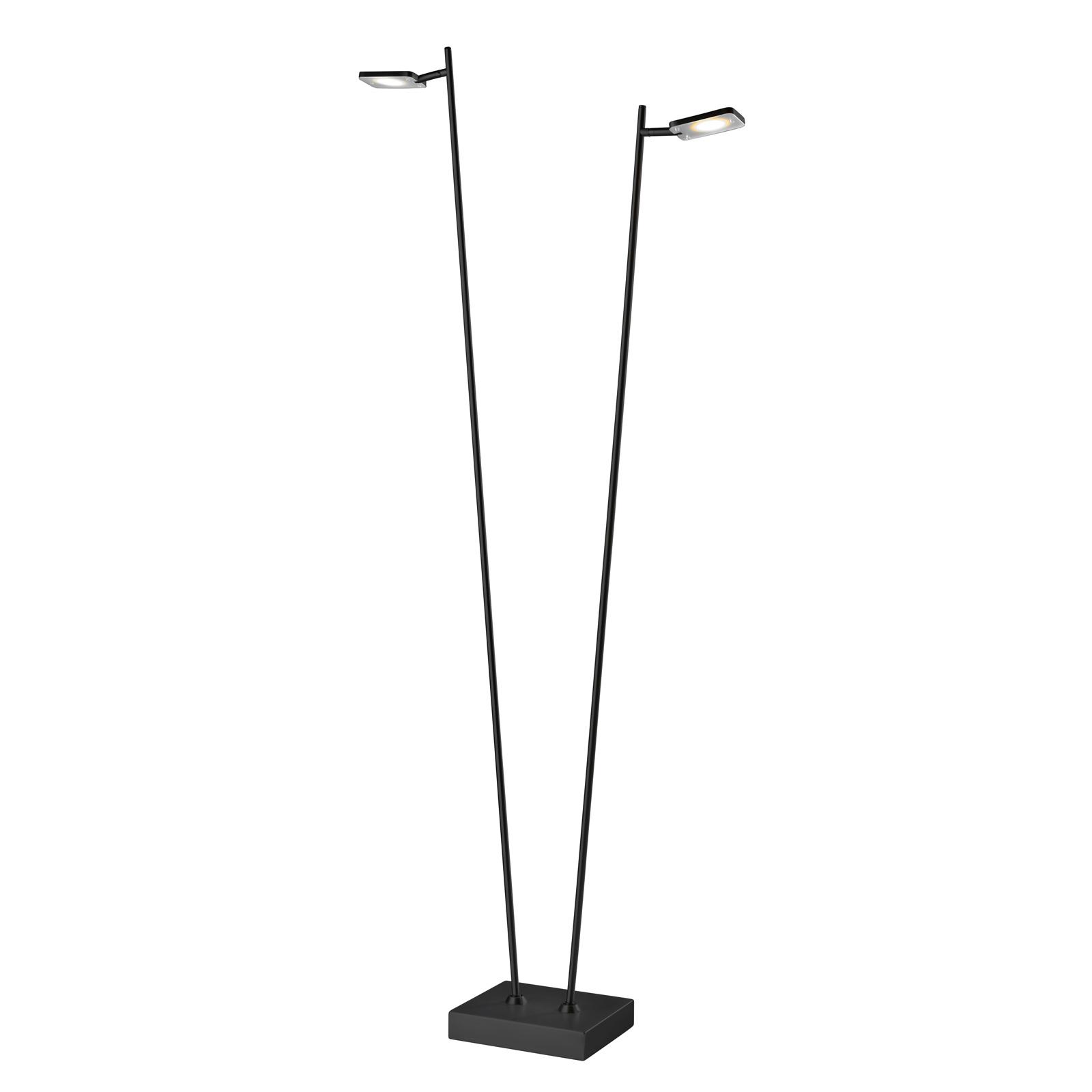 LED-lattiavalaisin Quad, himmennin 2-lamp., musta