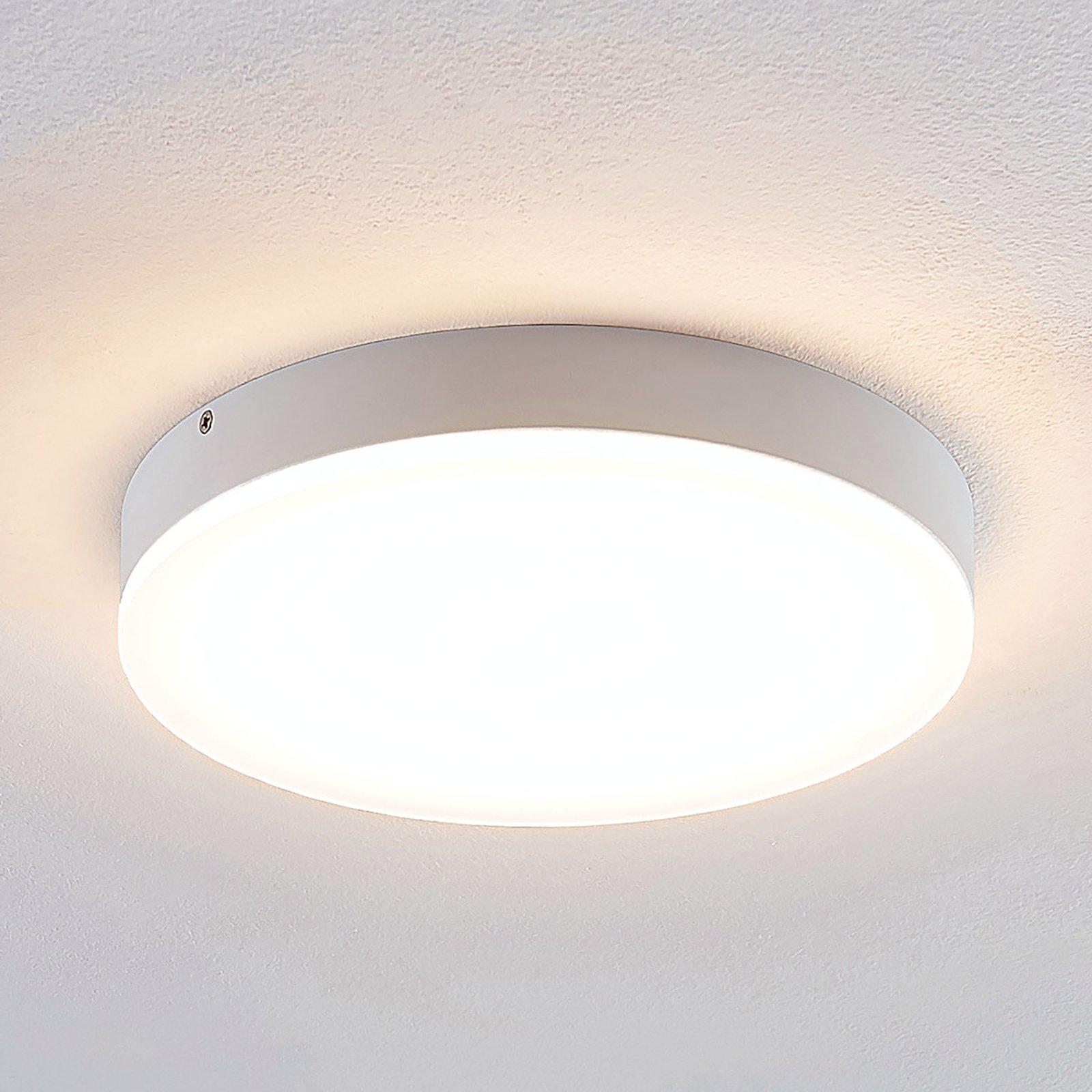Lindby Leonta LED-taklampe, hvit, Ø 25 cm