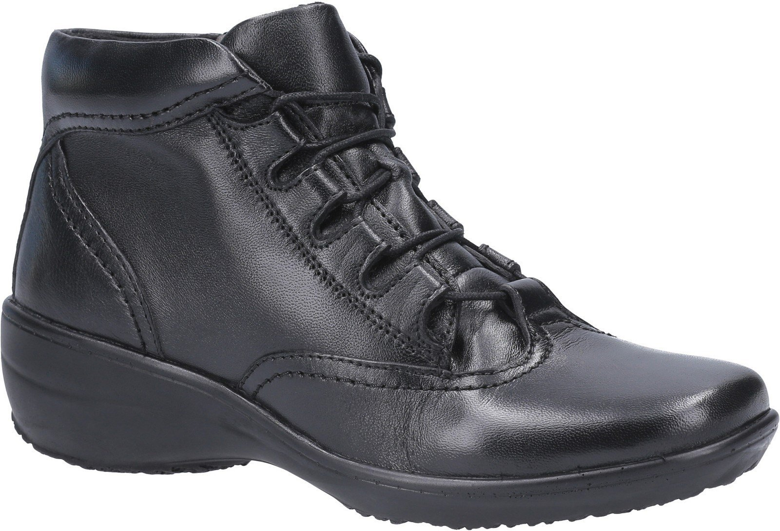 Fleet & Foster Women's Merle Lace Up Ankle Boot Black 29295-49581 - Black 3