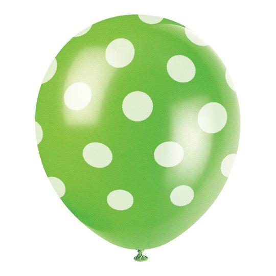 Ballonger Gröna Prickiga - 6-pack