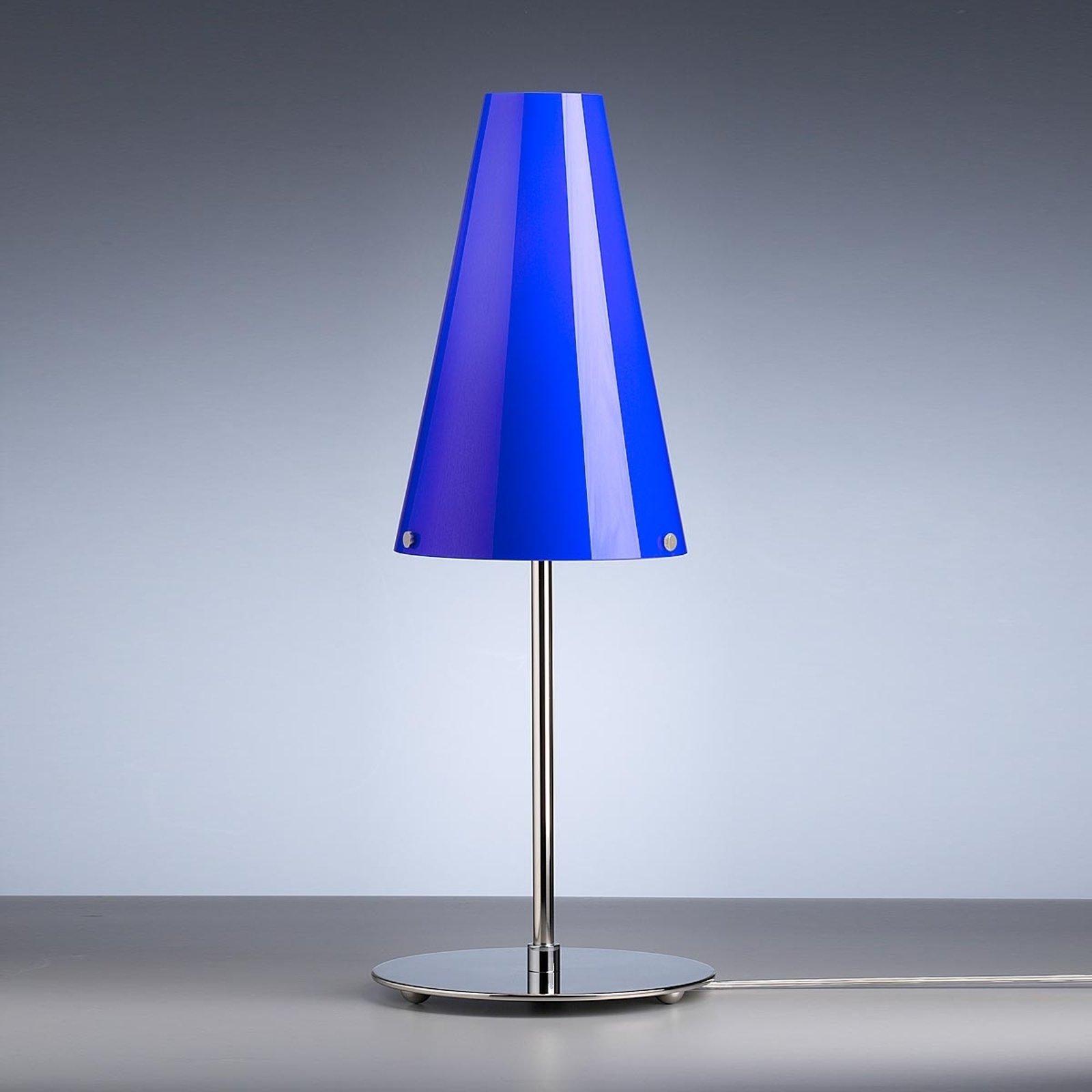 Bordlampe av Walter Schnepel blå