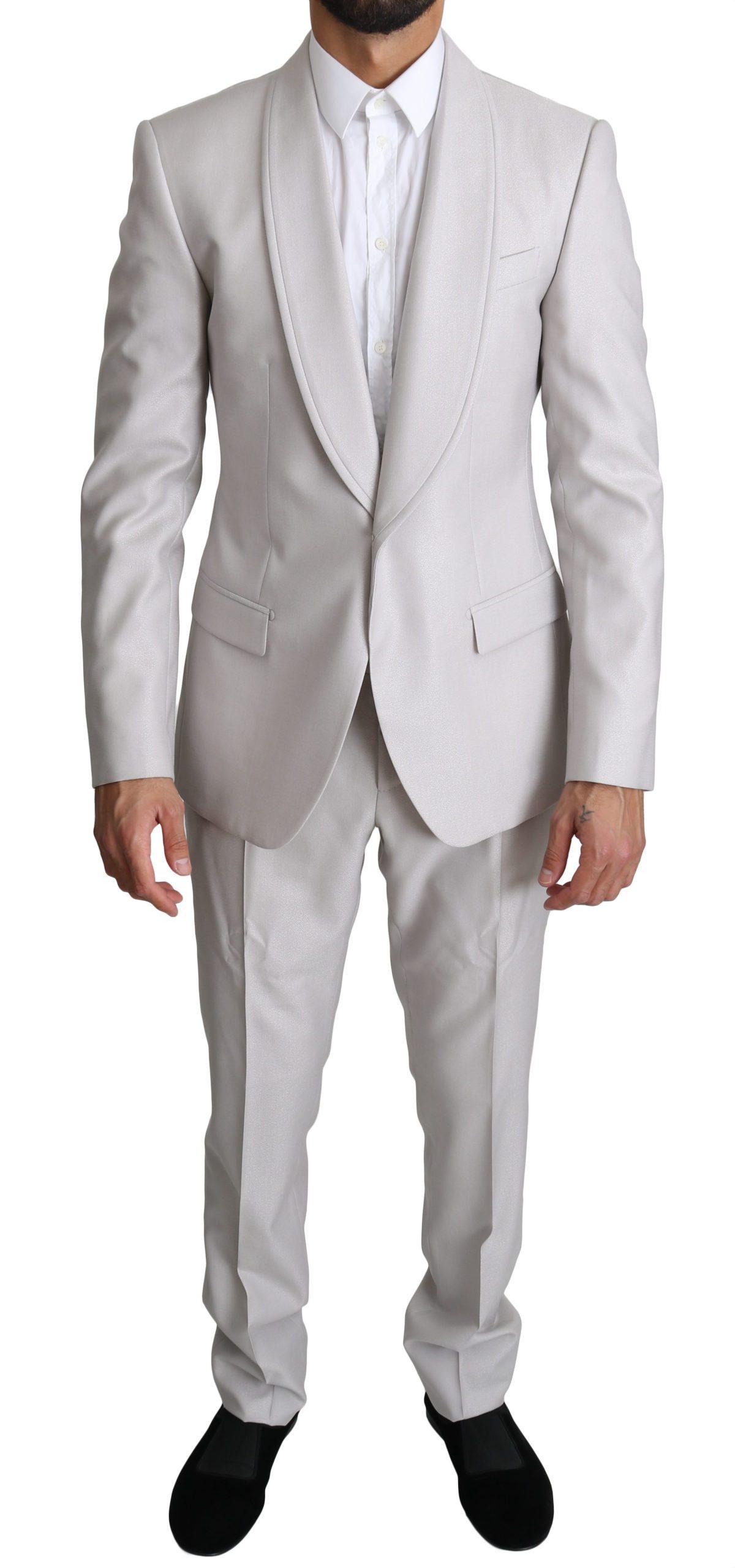 Dolce & Gabbana Men's Single Breasted 2 Piece Suit Gray KOS1549 - IT48   M