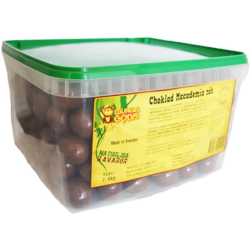 Hel Låda Godis Choklad Macademianöt 2,4kg - 60% rabatt