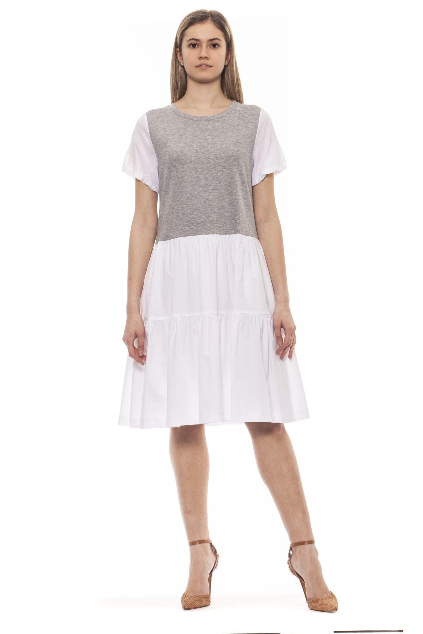 Peserico Women's Grigio Dress Gray PE1383198 - IT42 | S