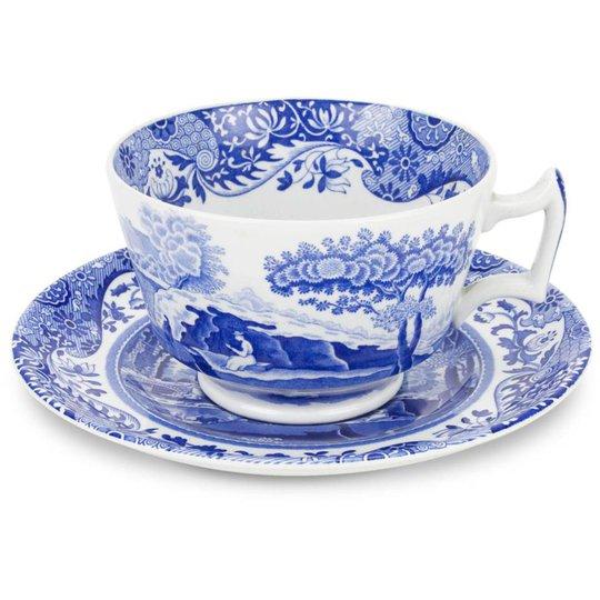 Spode Blue Italian Frukostkopp & Fat 28 cl