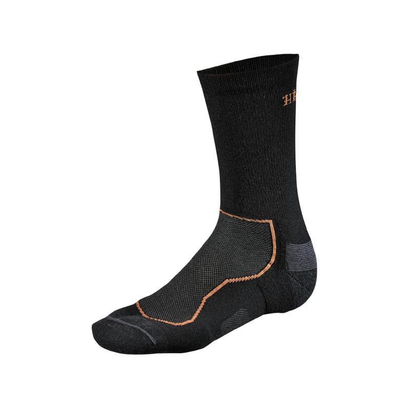 Härkila All Season Wool II sokk S 35/38 Lett og slitesterk sort sokk