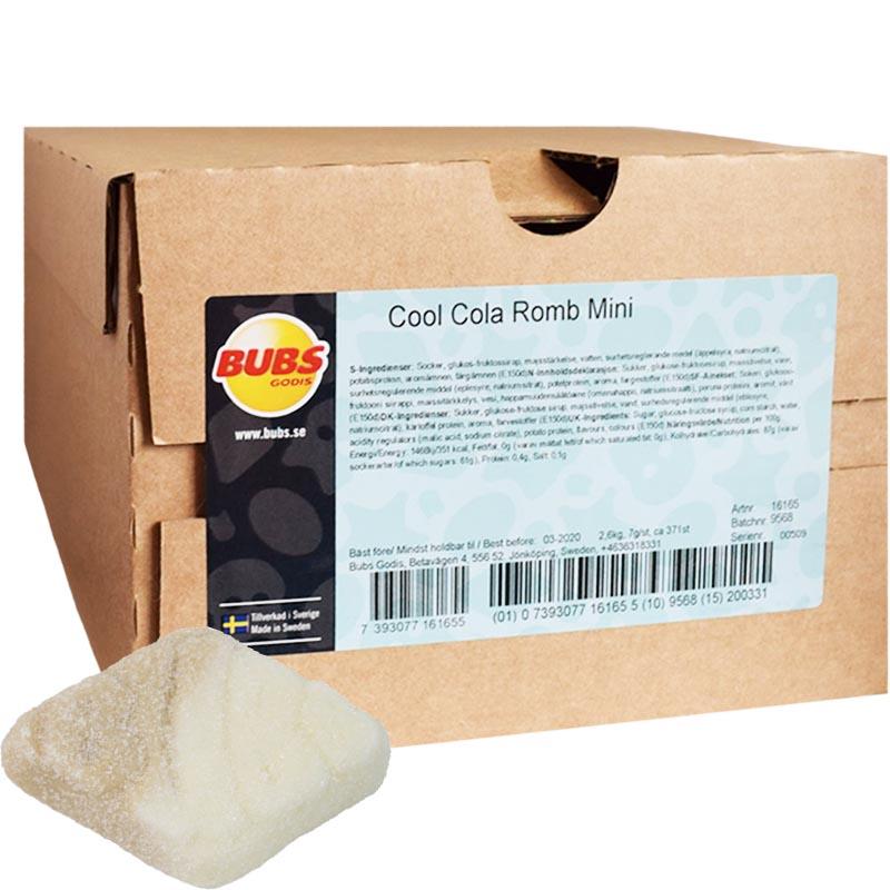 """Hel Låda Godis """"Cool Cola Romb Mini"""" 2,6kg - 41% rabatt"""