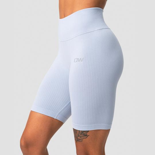 Ribbed Define Seamless Biker Shorts, Cloudy Blue