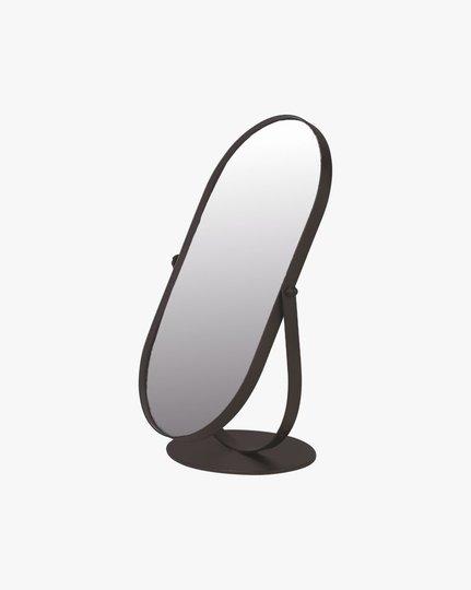 Standing 16,5x10,5x28,3 Cm Mirror, Musta, 17x11cm
