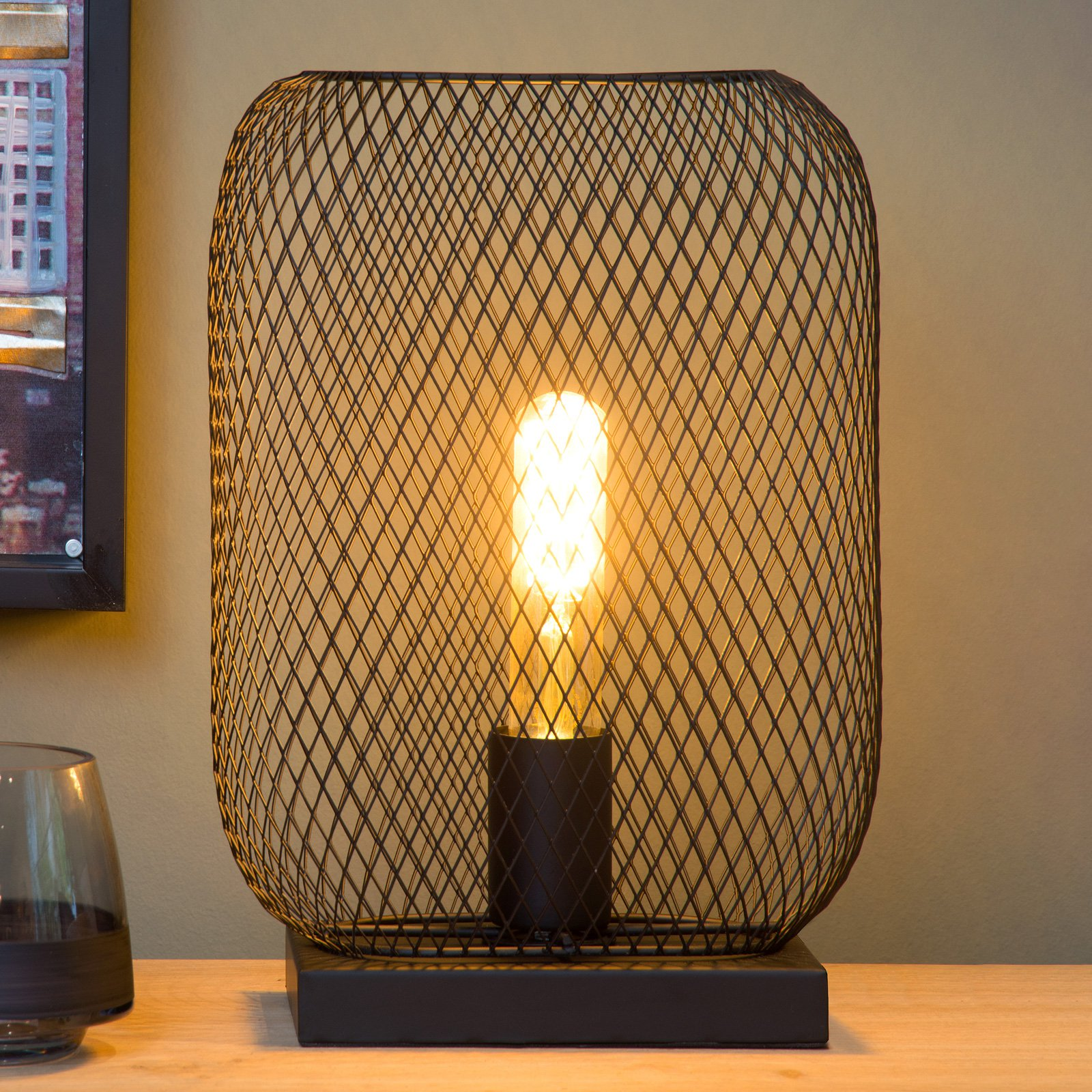 Mesh bordlampe høyde 32,5 cm