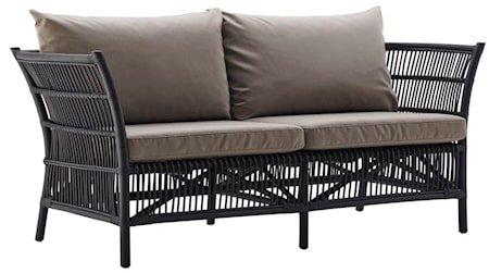 Donatello sofa - Svart, eksklusive dynor
