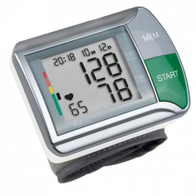 vidaXL Blodtrycksmätare för handled HGN vit och silver