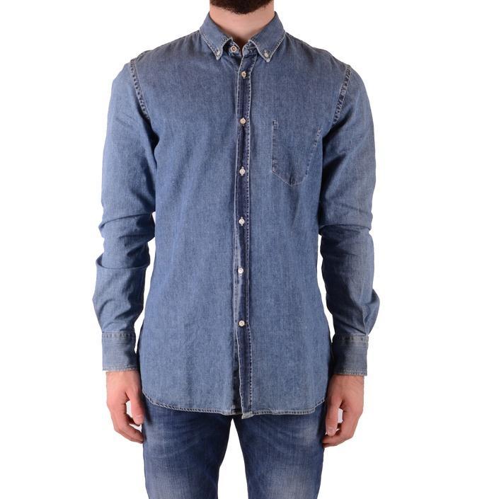 Dondup Men's Shirt Blue 165256 - blue L