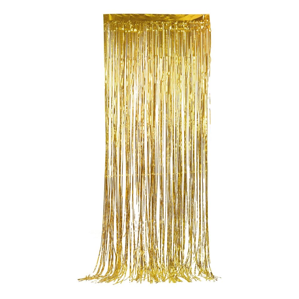 Glitterdraperi - Guld