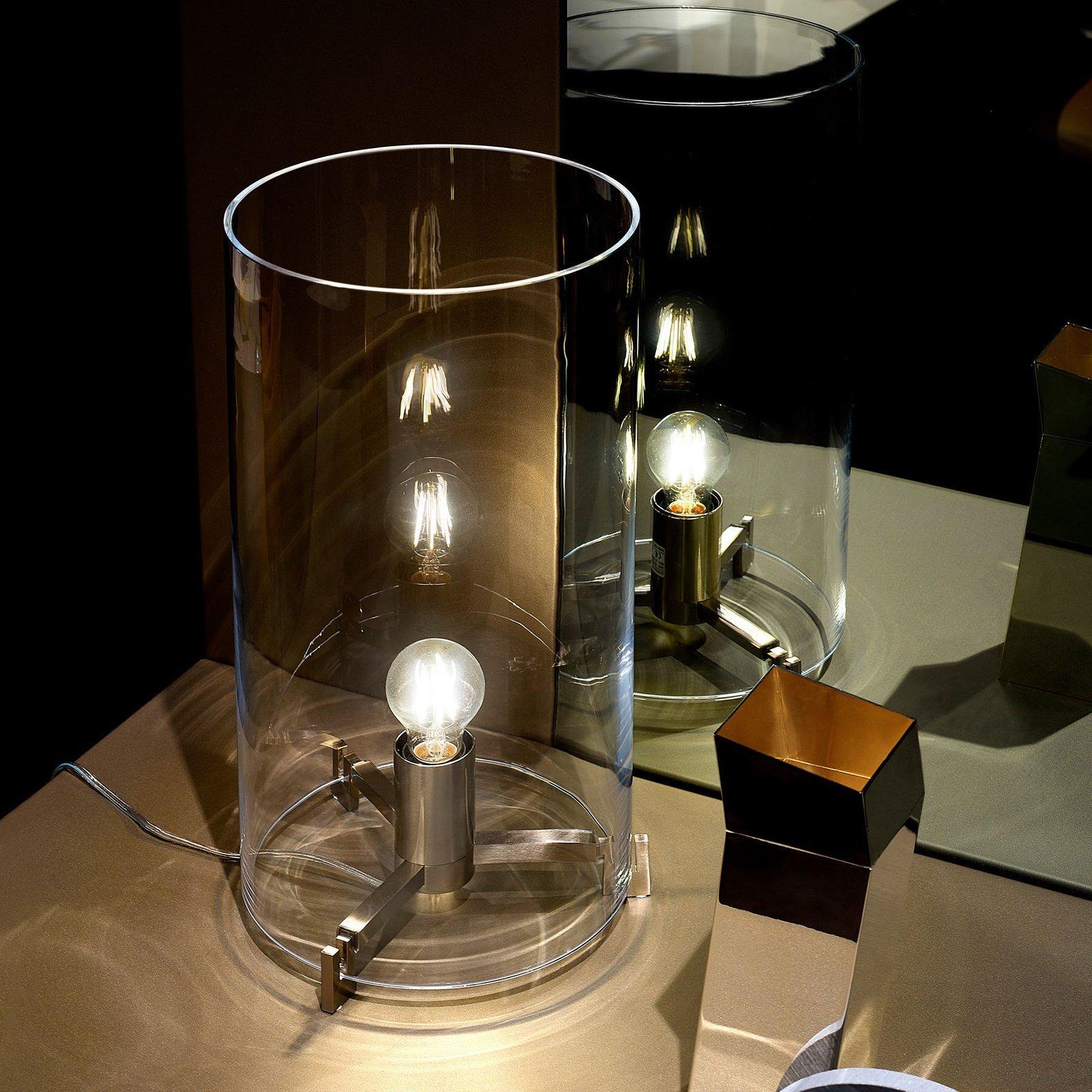 Prandina CPL T1 bordlampe krom glass transparent