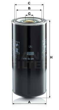 Öljynsuodatin MANN-FILTER WD 13 145/1