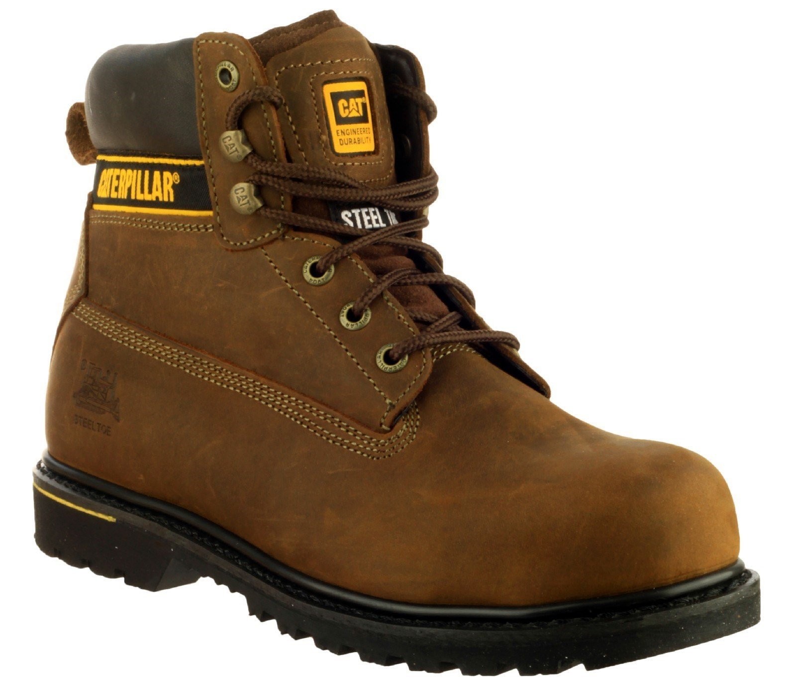 Caterpillar Men's Holton Safety Boot Brown 16106 - Brown 6