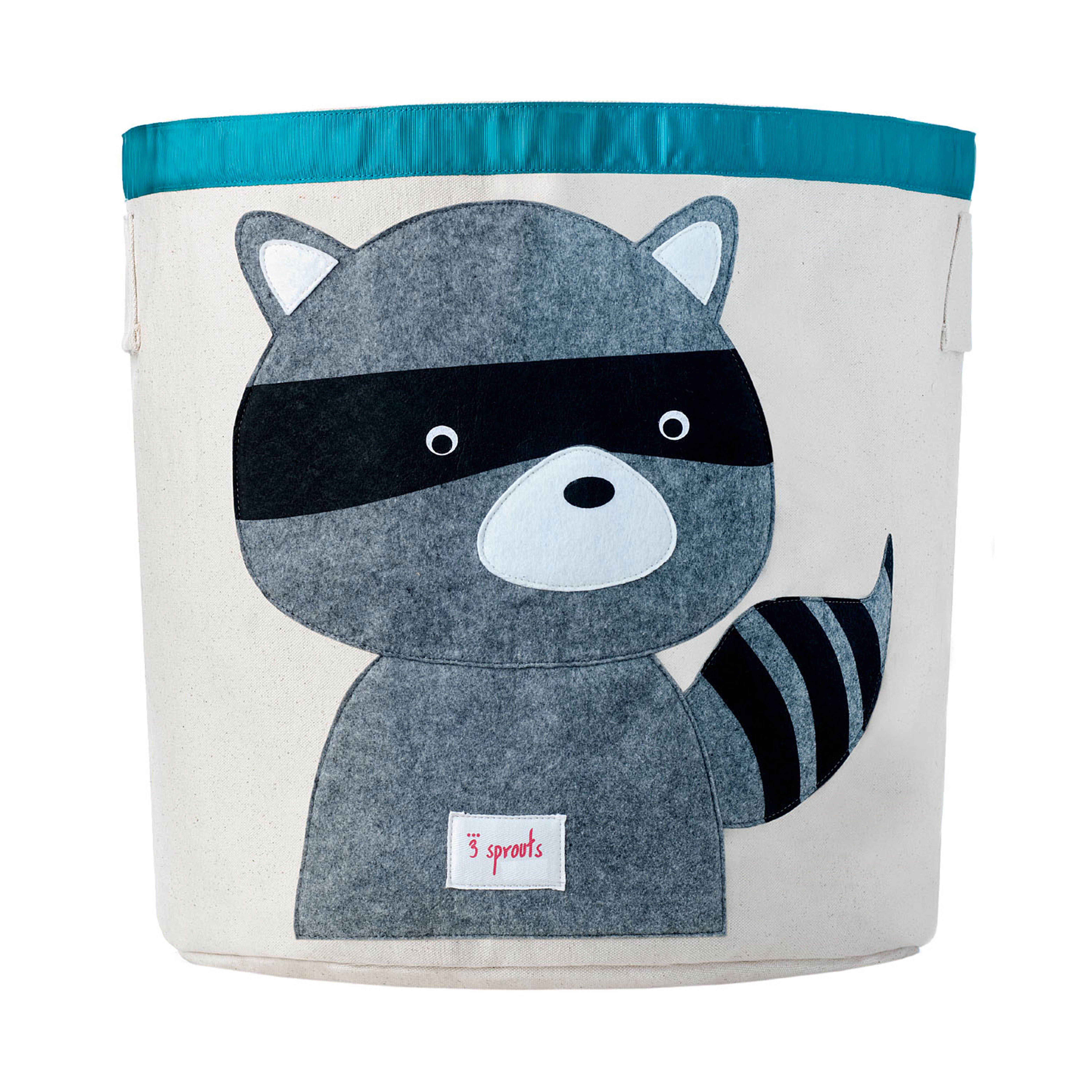 3 Sprouts - Storage Bin - Gray Raccoon