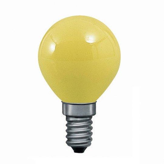 E14 25W pisaralamppu keltainen, valoketjuun