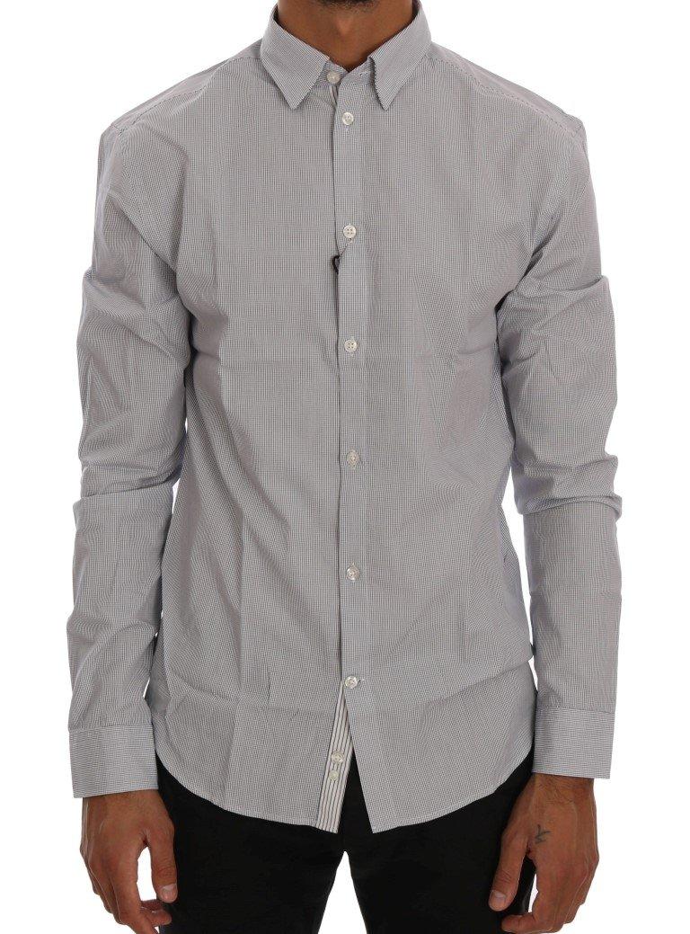 Frankie Morello Men's Check Regular Fit Shirt Blue TSH1399 - L