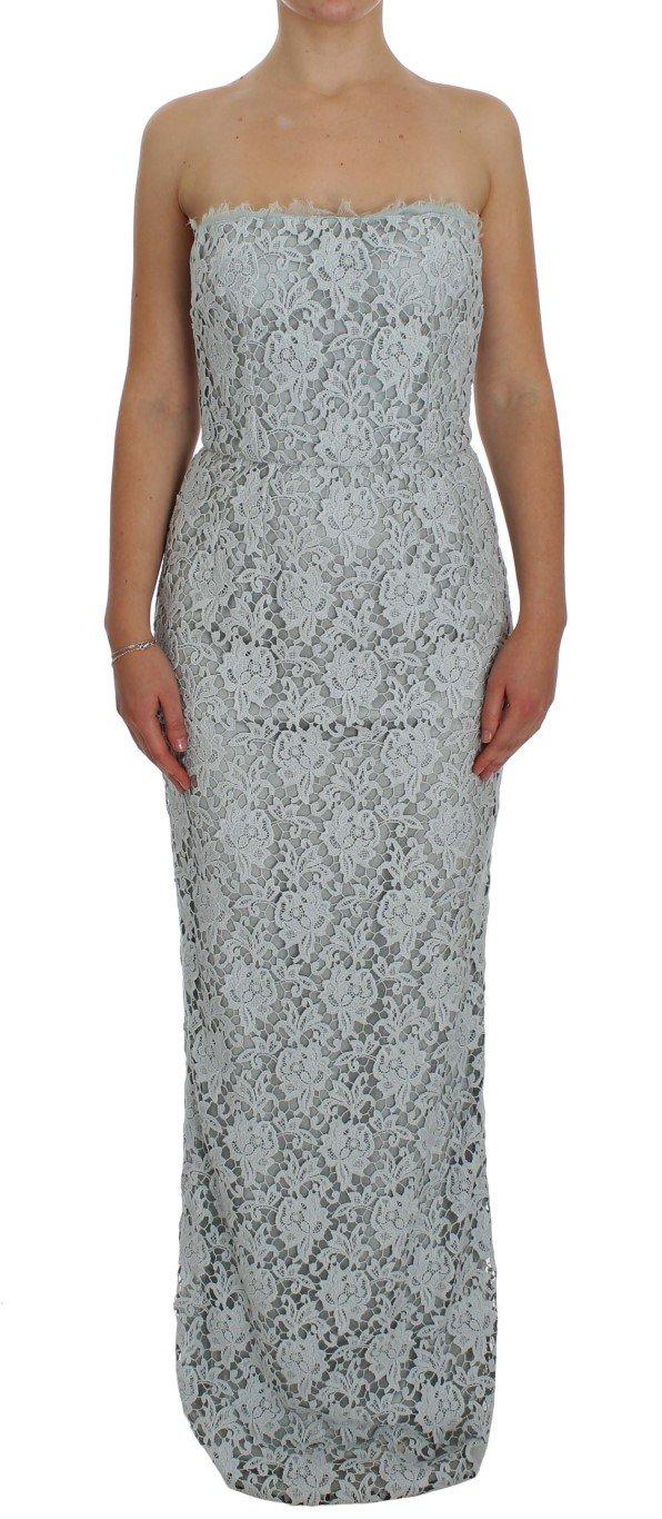 Dolce & Gabbana Women's Floral Lace Sheath Dress Blue NOC10107 - IT42|M