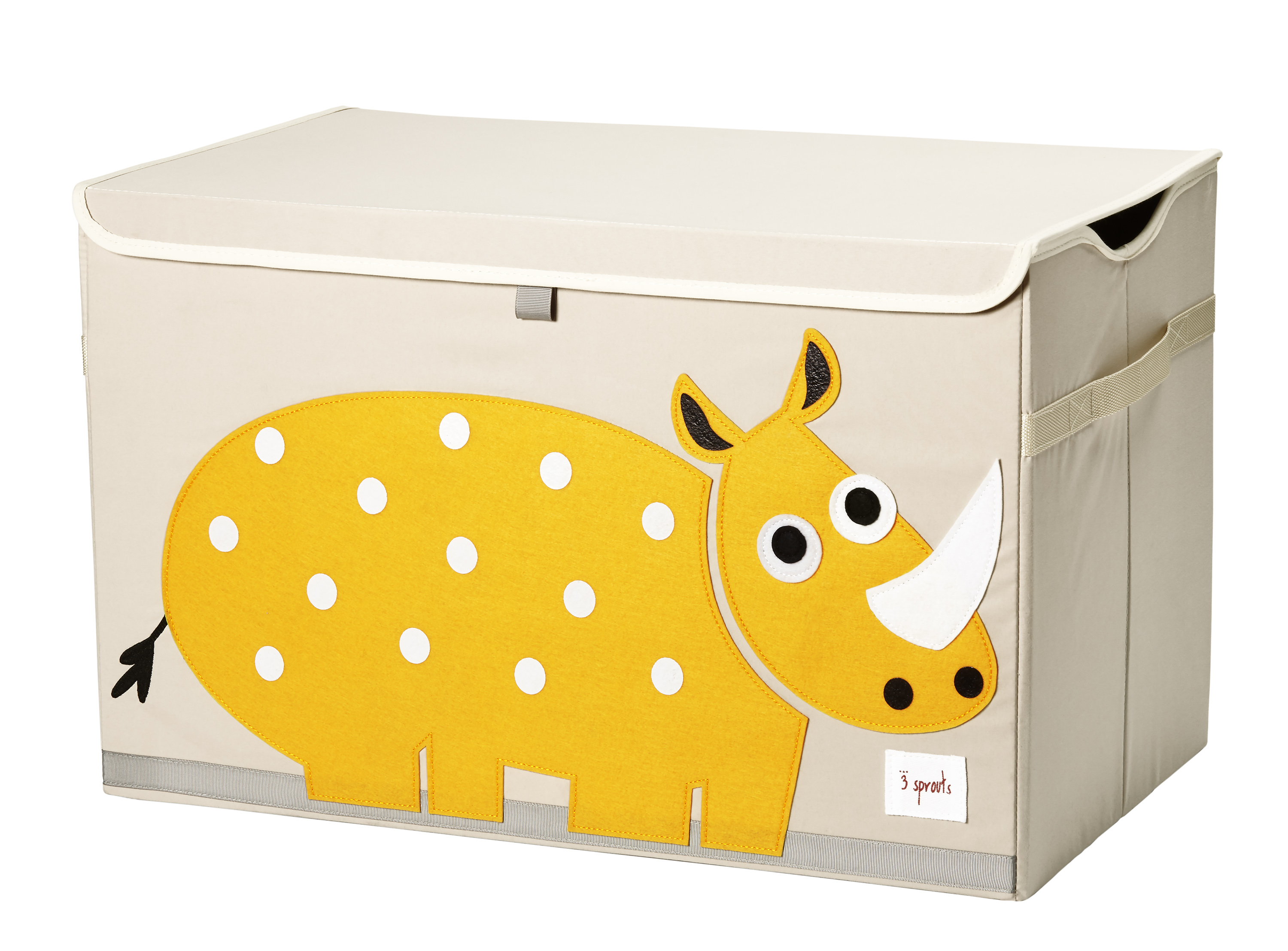 3 Sprouts - Toy Chest - Yellow Rhino