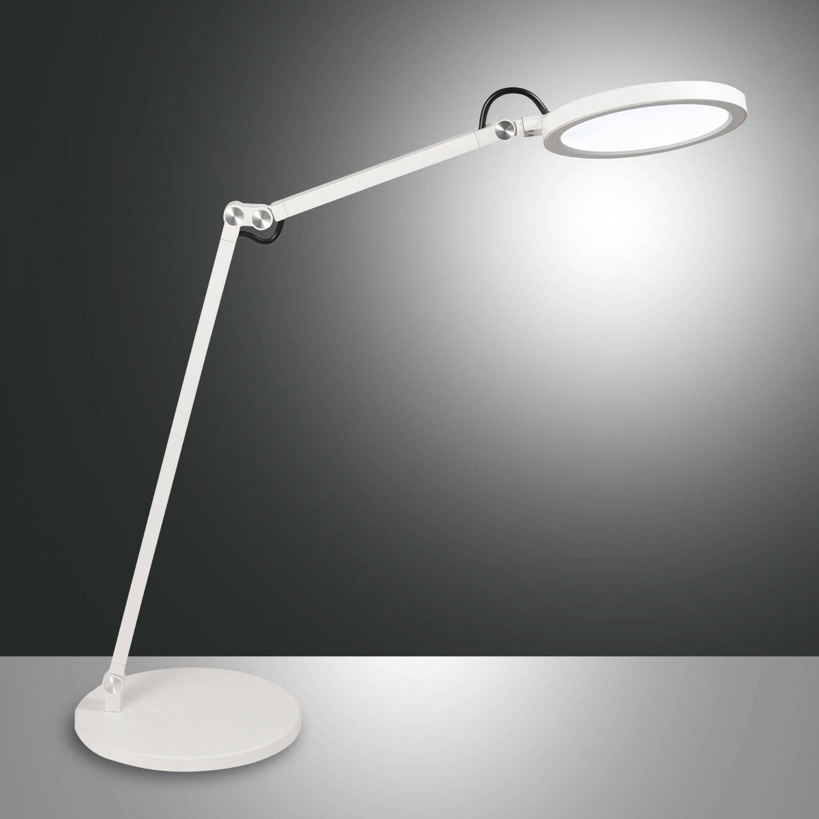 LED-skrivebordslampe Regina med dimmer, hvit