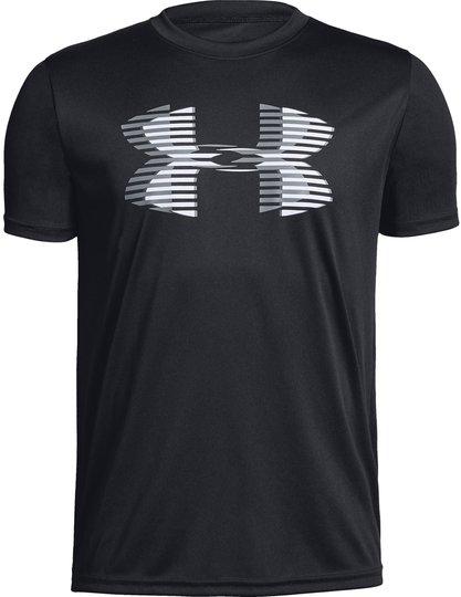 Under Armour Tech Big Logo Solid Tee, Black XS
