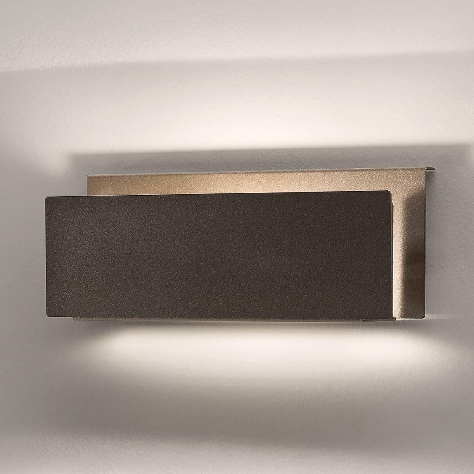 Pochete - vegglampe med indirekte lys - brun
