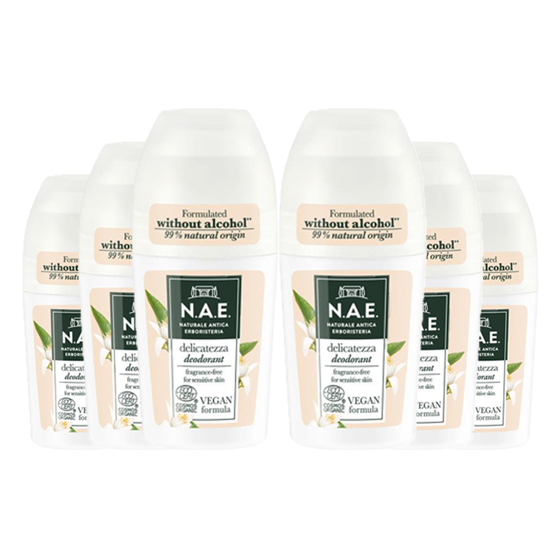 Deodorant Roll-On Delicatezza Parfymfri 6-pack - 79% rabatt
