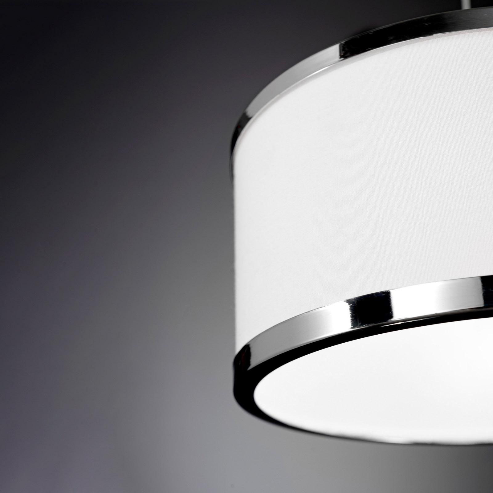 Riippuvalaisin Chiara, 1-lamp., kromi/valkoinen