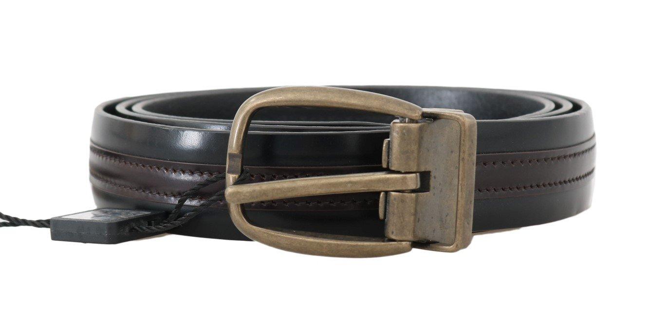Dolce & Gabbana Men's Leather Belt Black BEL50053 - 100 cm / 40 Inches
