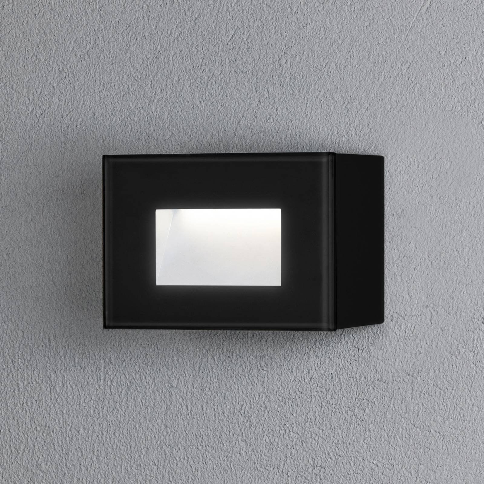 Chieri utendørs LED-vegglampe, 12 x 8 cm, svart