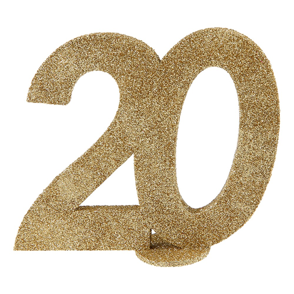 Bordsdekoration Siffra Guld/Glitter - Siffra 20