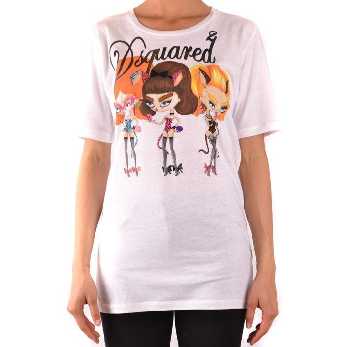 Dsquared Women's T-Shirt White 167599 - white L