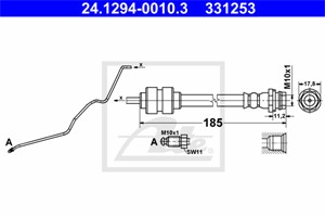 Jarruletku, Taka-akseli, vasen, FORD MONDEO IV, MONDEO Sedan IV, MONDEO Turnier IV, MONDEO Van IV, 1460253, 1520322, 1671148, 6G91-2282-