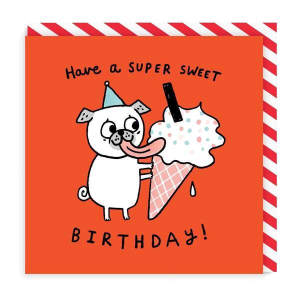 Super Sweet Birthday Square Greeting Card