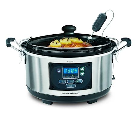 Slow Cooker med Stektermometer 4,7L