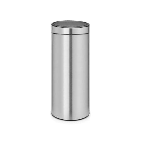 Touch Bin NEW, plastinnerbøtte 30 L Mattbørstet Stål