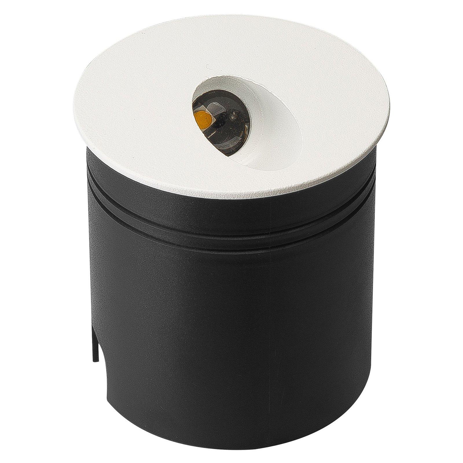 Aspen IP65 LED-innfellingslampe, rund, hvit