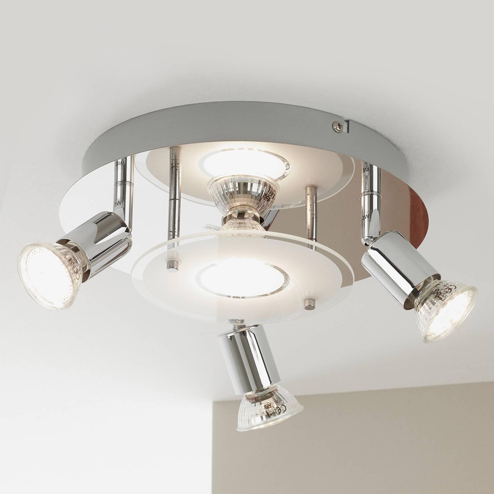 Nelilamppuinen Start-LED-spottiplafondi