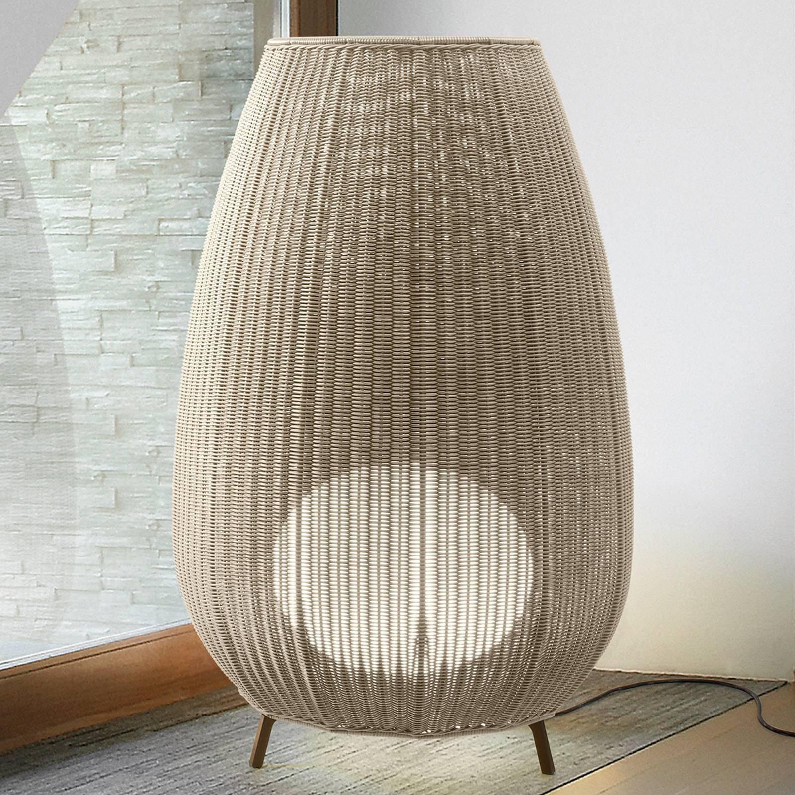 Bover Amphora 03 - terrasselampe, lys beige