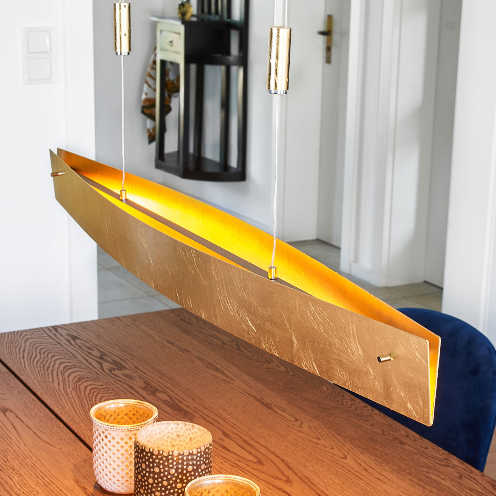 Kullanvärinen LED-kattovalaisin Malu, 100 cm