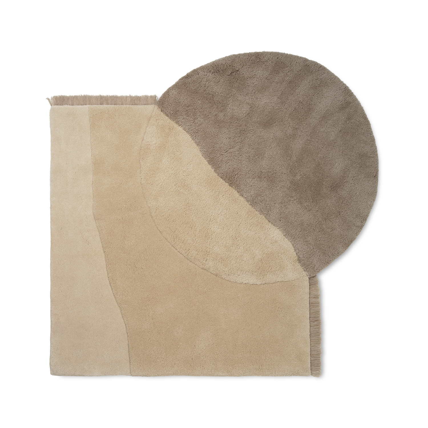 View Tufted Rug Beige Ferm Living