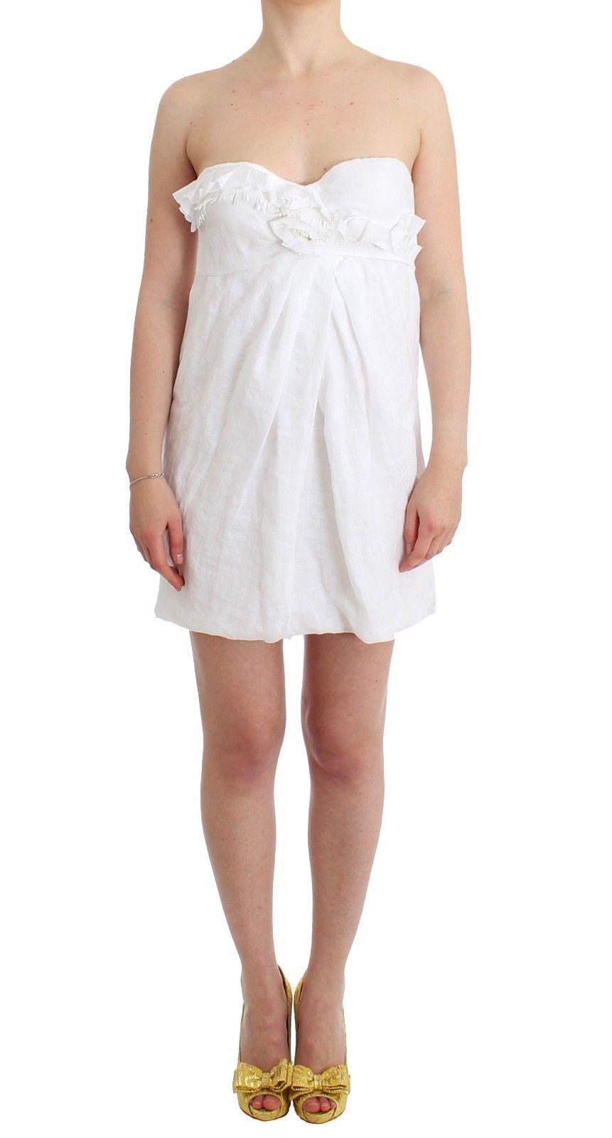 Ermanno Scervino Women's Dress White SIG11516 - IT44 | M